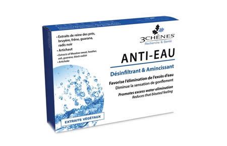 Comprar 3Chenes Anti-Eau. Farmacia online Andorra. Ayuda a desinflar de forma natural su cuerpo y reduce la hinchazón